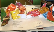"""Pop-up page from Eric Carle's """"The Very Hungry Caterpillar"""""""