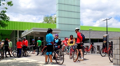 Cyclists at Anacostia Library