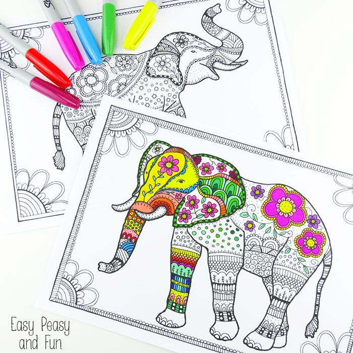 Outstanding Coloring Pages Elephant Tribal Collection - Resume Ideas ...