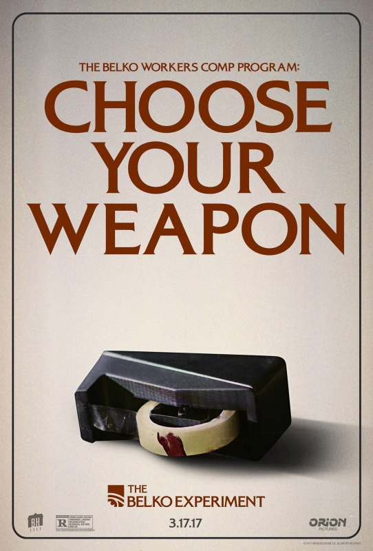 Choose Your Weaponthe Belko Experiment Begins District Of