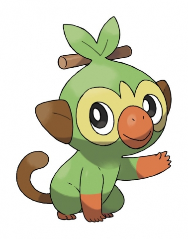 image is of a green ape-like cartoon creature