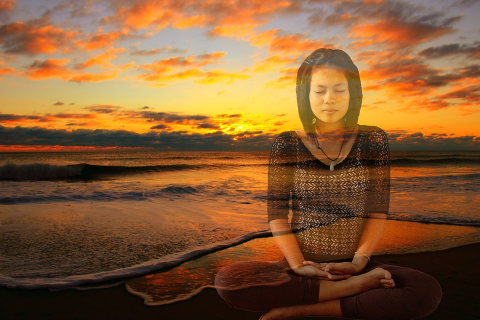 Image of Meditating Woman