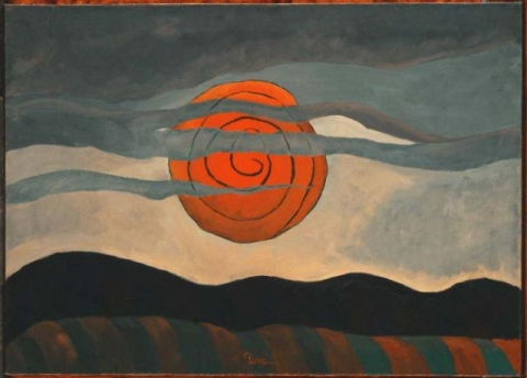 Arthur G. Dove, Red Sun, Acquired 1935 The Phillips Collection © Estate of Arthur G. Dove, Courtesy Terry Dintenfass, Inc.