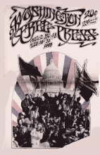 Cover of the January 16, 1969 Washington Free Press, an illustration of a protest at the U.S. Capitol
