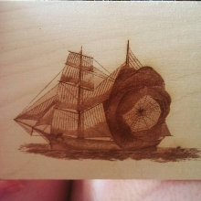Laser Cut Image into wood
