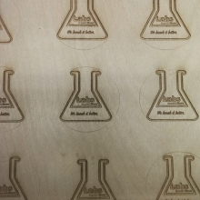 The Labs at DCPL Logo Laser Cut