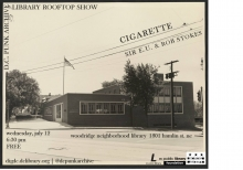 Cigarette + Sir E.U. & Rob Stokes show flyer
