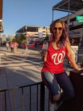 Picture of Elizabethany at work at Nats' Park