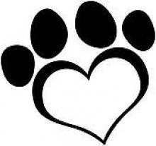 Image of a heart shaped paw print