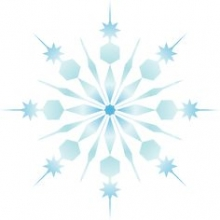 Picture of a blue snowflake