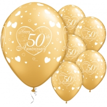 50th Anniversary Balloons