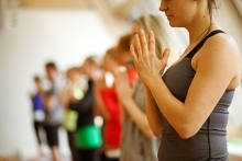 Yoga Hands / Wikimedia Commons from Lululemon Athletica