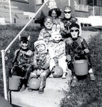 Throwback photo of kids in costumes