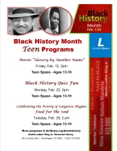 Teens, Black History Month