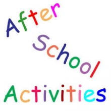 After School written in colored text