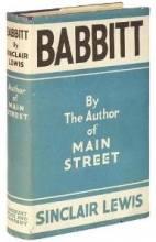 """Early book cover for """"Babbitt"""" by Sinclair Lewis"""