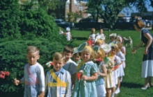 Boys and Girls Standing in Line at Northminster Presbyterian Church