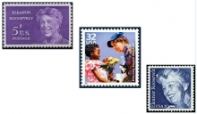 United State postage stamps issued (L-R) in 1963, 1998 and 1984.