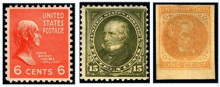 John Quincy Adams, Henry Clay and John C. Calhoun postage stamps.