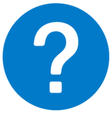 Clip Art of Blue Question Mark