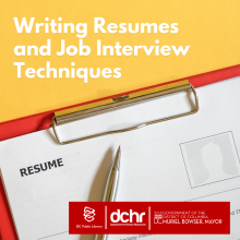 DCHR resume workshop