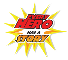 "Logo for ""Every hero has a story"""