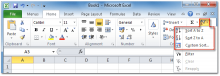 MS Excel Ribbon