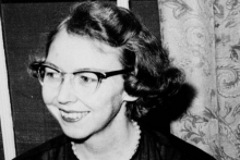 Head shot of Flannery O'Connor