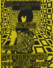 Flier for a concert featuring Government Issue and The Mob March
