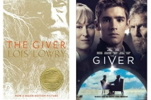 Book cover and movie poster  of The Giver