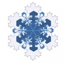 A snowflake to read by.