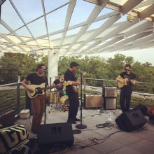 DC locals Cigarette play on the Woodridge rooftop on July 12, 2017