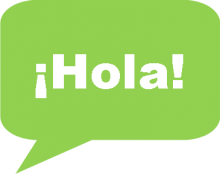 "Image of ""Hola"" in Text Bubble"