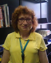 Photo of Janice Rosen, Deaf Service's Librarian