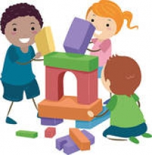 Children Building Clip Art