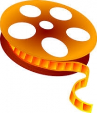 orange movie reel