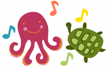 Octopus and Turtle dancing