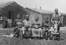 Photograph of enslaved family
