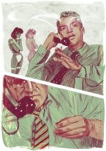 "Image of phone conversation from ""Pretty Mouth and Green My Eyes"""