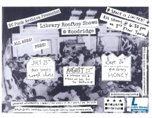 Woodridge Library Punk Archive shows flyer