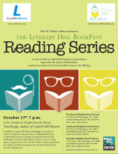 Flier for the Literary Hill BookFest Reading Series - Tim Krepp - Capitol Hill Haunts