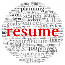 Resume word cloud