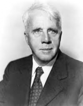 Head shot of American poet Robert Frost