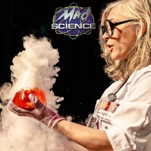Mad Science Scientist with a Beaker