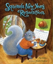 """""""Squirrel's New Year's Resolution"""" book cover"""