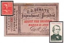 U.S. postage stamps commemorating President Andrew Johnson