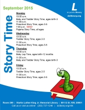 Storytime Flyer - Fall 2015