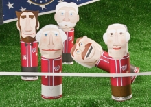 The Racing Presidents at Nationals Park as paper dolls