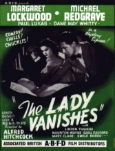 The 1938 theatrical release poster for 'The Lady Vanishes'