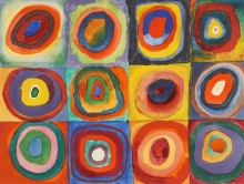Kandinsky Squares with Concentric Circles